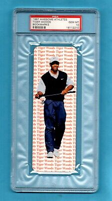 Rare 1997 Awesome Athletes Bookmarks rookie card Tiger Woods PSA 10