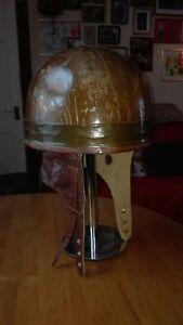 Original Unissued WW2 British Dispatch Motorcycle Helmet Dated