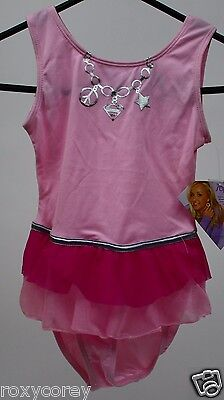 Supergirl by Nastia Girls Pink Sleeveless Leotard with skirt Size Small 6-7 NWT - Supergirl Leotard