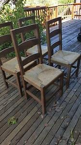4 Wooden Chairs Point Piper Eastern Suburbs Preview