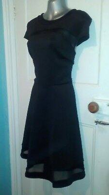Dorothy Perkins Size 18 Dress Black Fit n' Flare 50s Rockabilly Party