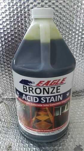 Concrete Acid Stain Bronze Interior Exterior Floor Marbled Look Spray 1 Gallon