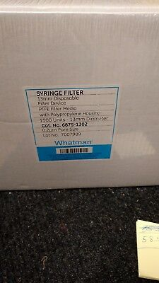 Pack Of 1500 Ge Healthcare Whatman 13mm 6875-1302 Disposable Syringe Filter