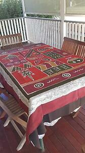 Decorative Indian screenpainted cotton tablecloth for 6 seater di Albion Brisbane North East Preview