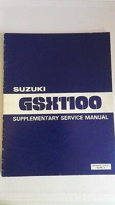 Suzuki gsx1100x  supplementary service  manual 1981 Read description
