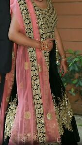 Indian velvet lehenga lenga , indian  dress party wear