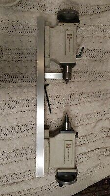 2 Hardinge Manual Tailstock For Centering Jigs. Modern Need Cleaning Tight. Mt3