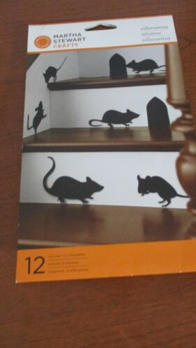 MARTHA STEWART CRAFTS~Package of 12 RAT / MOUSE SILHOUETTES~New in Package