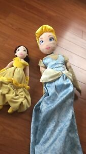 2 stuffy Disney princess toys