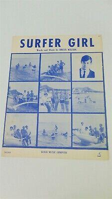 The BEACH BOYS Surfer Girl BANNER HUGE 4X4 Ft Fabric Poster Tapestry Flag art