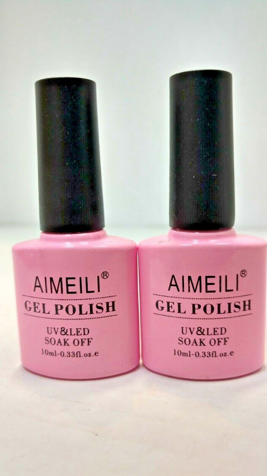 AIMEILI *034* UV LED Soak Off Gel Nail Polish 10ml LOT OF 2