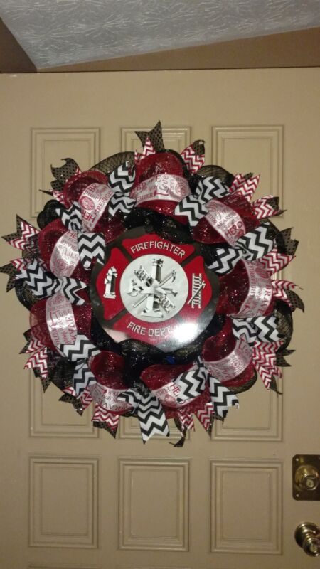 fire department themed wreath
