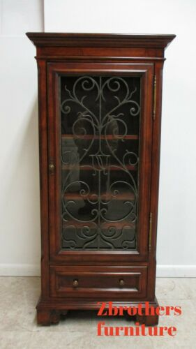 Ethan Allen Tuscany Wine Cabinet Display