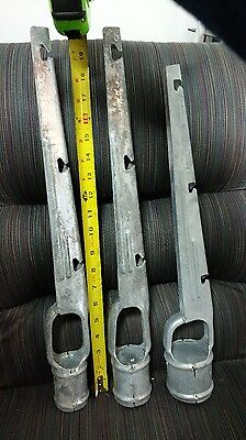 1 58 X 1 58 Barb Wire Arm Vertical For Chain Link Fence 8pack Add Height