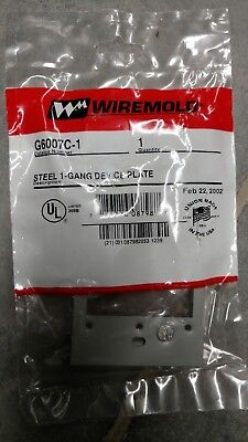Wiremold G6007C-1 Device Plate **Free Shipping**