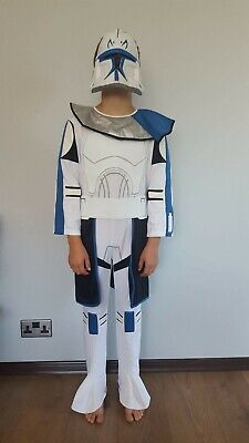Boys Storm Trooper Star Wars Fancy Dress Costume Kids Childrens Outfit 5-8 yrs