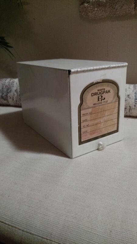 Vintage Pharmacy Prescription Box, Drugpak 1950