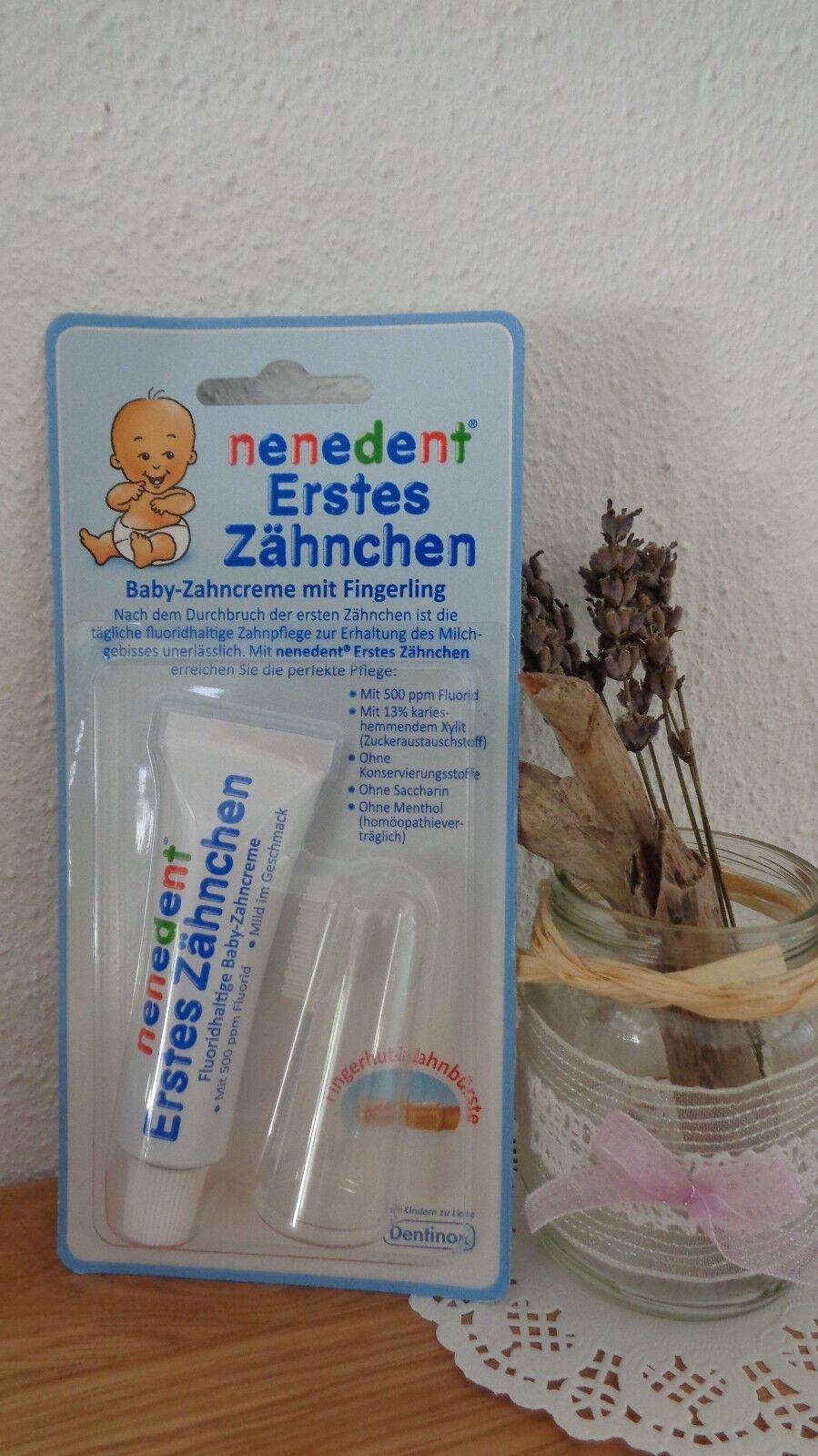 Zahncreme Baby Zahnpasta und Zahnbürste / Fingerling Set Nenedent NEU
