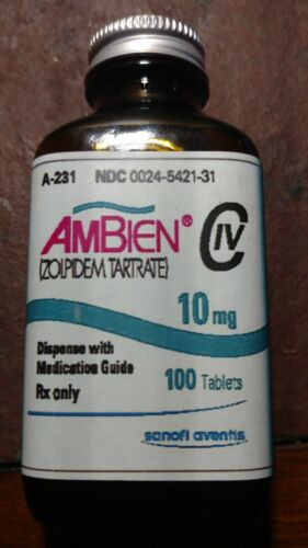 Medicine Bottle Hand Crafted,  Ambien 10 mg., (EMPTY) NOT PRESCRIPTION