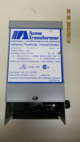 ACME GENERAL PURPOSE TRANSFORMER T-2-53107-S