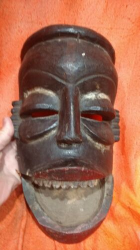 Dan Mask with Hinged Jaw and Colorants — Authentic Carved Wood African Art