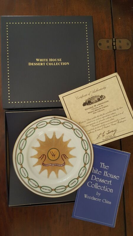 White House China Collection George Washington SALAD/DESSERT PLATE Boxed/Papers