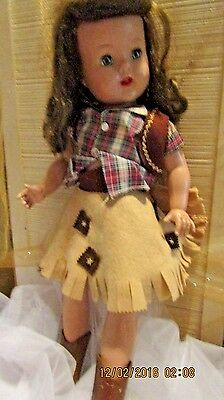 1950s Hard Plastic Artisan RAVING BEAUTY Doll with Cowgirl Outfit