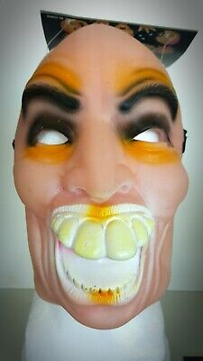Halloween Mask Big Teeth Funny Scary It The 70's / 80's Bank Robber Type