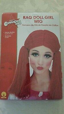 Rag Doll Wig Adult Girls Teen Raggedy Ann Red Yarn Clown Halloween Costume Acsry](Raggedy Ann Wigs Adults)