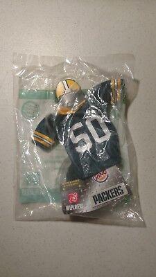 Burger King NFL Mini Jersey Green Bay Packers #50 A.J. Hawk FAST FREE SHIPPING