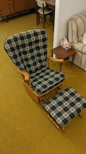ROCKING CHAIR - Wooden and Fabric