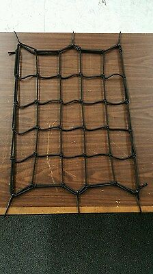 CARGO BUNGEE NET 12 X 12 INCHES W/ 6 METAL HOOKS FOR MOTORCYCLES HARLEY & -