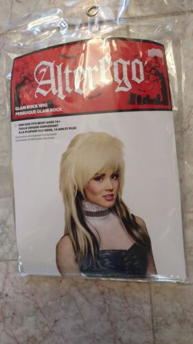 Rock Star Haloween Wig 2-tone blonde and dark long hair