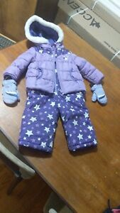 Baby girl winter outwear jacket snow suit snow pants