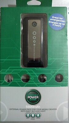 AXCEL 5600MAH EXTERNAL BACKUP BATTERY WITH BUILT IN FLASH LIGHT Built In Battery Backup