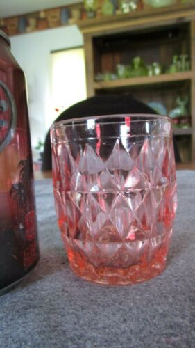 JEANNETTE PINK DEPRESSION GLASS WINDSOR PATTERN 5 OUNCE JUICE TUMBLER