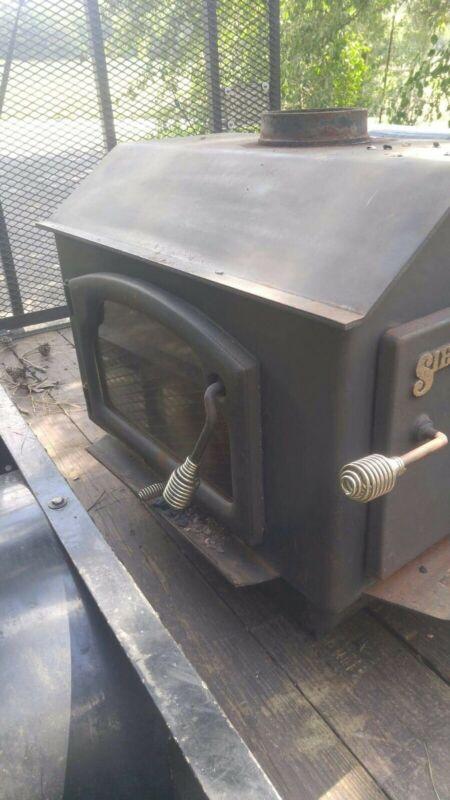 Vintage Sierra Wood Fireplace Hearth Stove 8000 2 Door