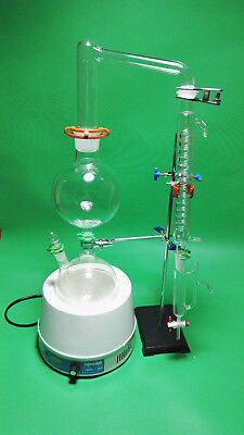 Essential Oil Steam Distillation Kitheating Mantlegraham Condenser