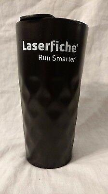 Ceramic Black Tumbler 12 oz Travel Mug Coffee Tea Laserfiche
