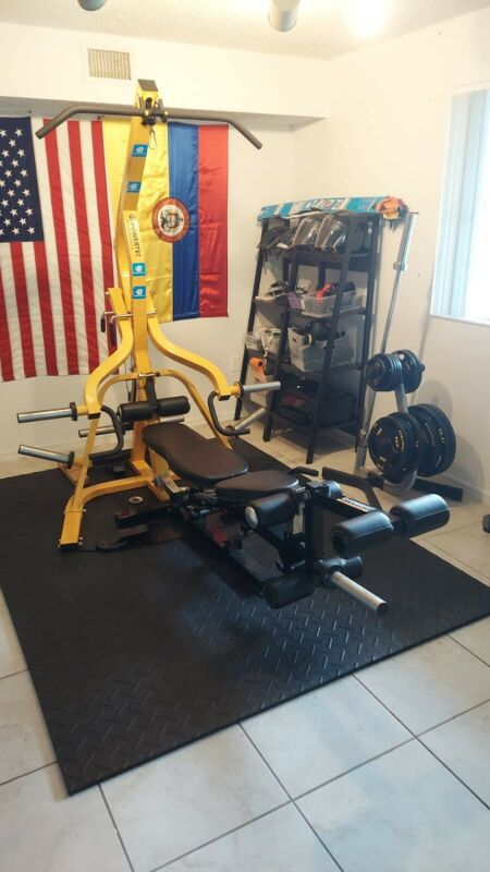 Home Gym Powertec Workbench / 255 lbs / Olympic Plate Tree / Attachment