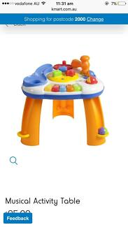 Kids, baby, toddler learning toy. Standing musical Activity table