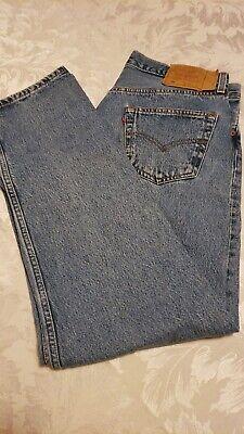 Levis Classic 501XX Mens Jeans Med Blue Wash 36/32 Button Fly Cotton Denim