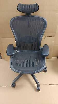 Herman Miller Aeron Chair - Fully Adjustable W Lumbar And Headrest - Size B