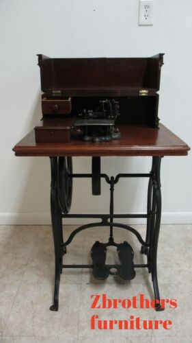 Antique Wheeler & Wilson Lock Stitch Sewing Machine Cabinet 1860s W/ Provenance