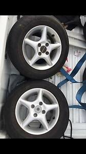 Auscar 13 inch wheels and tyres 4x100 cheap Bexley Rockdale Area Preview
