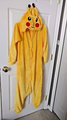Pikachu - Adult/Unisex All in One Pajamas - Costume - Cosplay - Size S - NWOT