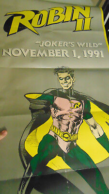 DC Comic Robin JOKERS WILD Store Promo Poster 1991 New Costume 71
