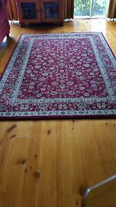 Traditional red & natural rug Frankston Frankston Area Preview