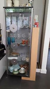 Gainsville Glass China Cabinet with timber shelving unit Albert Park Port Phillip Preview