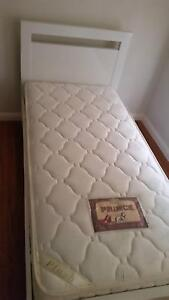 Single white bed with matress Kellyville The Hills District Preview